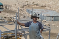 Saber, a welder from Yatta, has become our partner in designing and building metal structures. Tha'ale. Installation year: 2011.Photo: Noam Dotam, July 2011